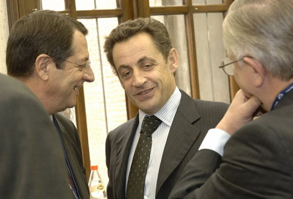 Никос Анастасиадис на встрече с президентом Франции
